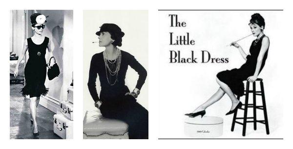 2e6da7d4d Jednoduché černým krátkým večerním šatům připisují módní historici původ v  návrzích Coco Chanel a nezapomenutelnou tvář jim vtiskla herečka Audrey  Hepburn.