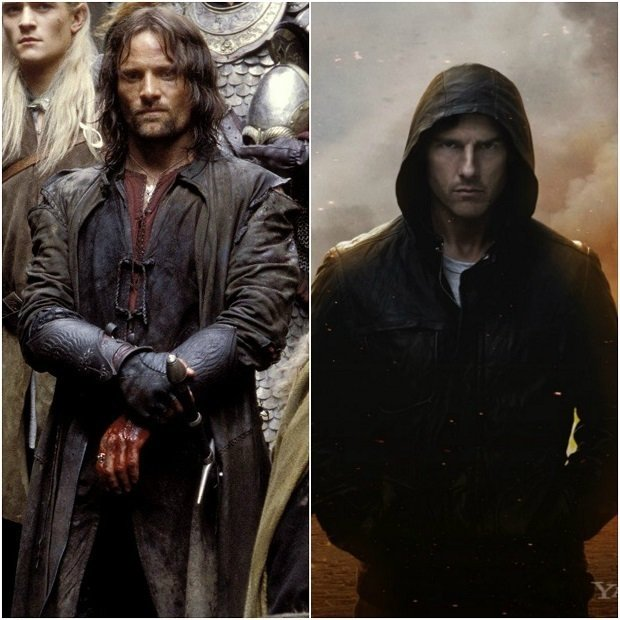 Aragorn v Pánu prstenů, Tom Cruise v Mission Impossible