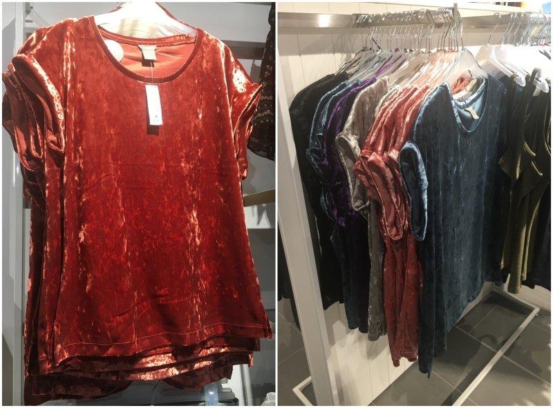 """""""Láska na první pohled"""" v Lindexu. Polyesterový samet v různých barvách za 499 Kč."""